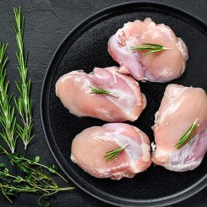 Plain chicken thigh fillets